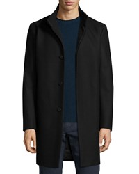 Theory Belvin Wool Blend Car Coat Black