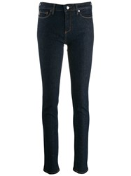 Love Moschino Heart Shaped Plaque Skinny Jeans Blue
