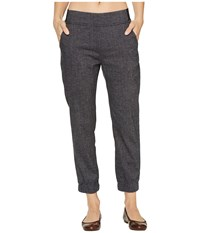 Prana Annexi Pants Black Herringbone Women's Clothing Gray