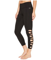 Jockey Active Banded Capris Deep Black Women's Capri
