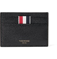 Thom Browne Pebble Grain Leather Cardholder Black