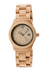 Earth Wood Unisex Pith Watch Beige