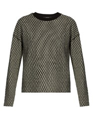 Max Mara Adina Top Black White