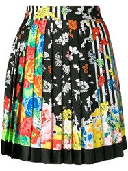 Versace Floral Pleated Skirt Yellow