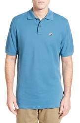 Men's Patagonia 'Fitz Roy Logo' Organic Cotton Pique Polo Catalyst Blue