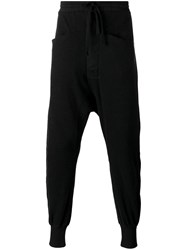 Thom Krom Drop Crotch Sweatpants Black