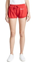 Re Done Sweat Shorts Red