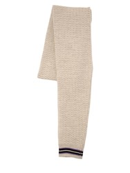 Lanvin Sleeve Effect Wool Blend Scarf Off White