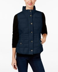 Charter Club Petite Quilted Vest Only At Macy's Intrepid Blue