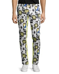 Opening Ceremony Palm Reflex Slim Fit Trousers Summer Yellow Multi