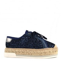 Kanna Dallas Lace Up Espadrilles Blue