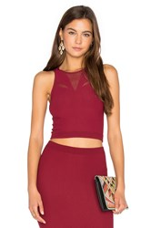 Bcbgeneration Mesh Crop Tank Red