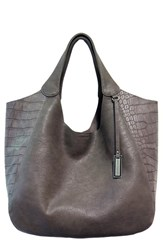 Urban Originals 'Masterpiece' Croc Embossed Tote Grey Graphite