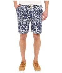 Threads 4 Thought Boardwalk Jaquard Shorts Navy Aztec Men's Shorts Blue