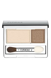 Clinique 'All About Shadow' Eyeshadow Duo Ivory Bisque Bronze Satin