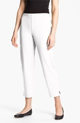Petite Women's Eileen Fisher Organic Stretch Cotton Twill Ankle Pants White