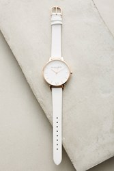 Anthropologie Cloud Leather Watch White