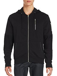 Sovereign Code Sheps Zipper Trim Hoodie Black