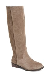 Women's Sole Society 'Kellini' Suede Knee High Boot Dark Taupe Suede
