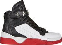 Givenchy High Top Star Ankle Strap Sneakers Multi