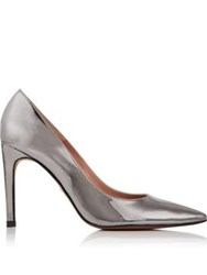 Whistles Cornel Mirrored Court Shoes Silver