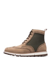 Swims Motion Wing Tip Boots Gaucho Olive