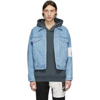 Enfants Riches Deprimes Blue Arcade Denim Jacket