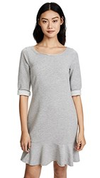 Three Dots Flounce Sweatshirt Dress Granite