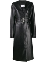 Each X Other Vegan Leather Coat Black