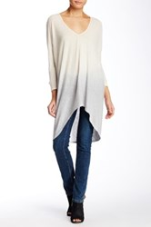 Bobi Linen 3 4 Length Sleeve Ombre Tunic Multi