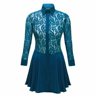 Sophie Cameron Davies Teal Lace Dress Green