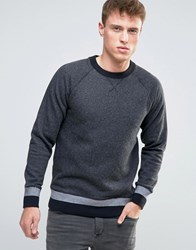 Esprit Sweatshirt With Cuffed Hem Detail Grey