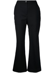Eudon Choi Flared Cropped Trousers Black