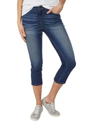 Fat Face Denim Straight Leg Cropped Jeans Blue
