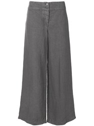 Aspesi Wide Leg Cropped Trousers Grey