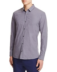 Hugo Boss Hugo Gingham Slim Fit Button Down Shirt Light Pastel Grey