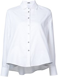 Jourden Cut Out Smock Blouse White