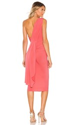 Katie May X Grace Kong Dress In Pink. Coral