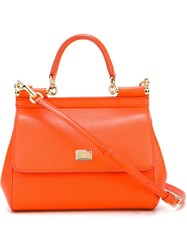 Dolce And Gabbana 'Sicily' Tote Yellow And Orange