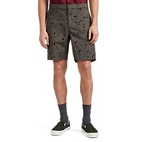 John Varvatos Ink Drop Stained Cotton Flat Front Shorts Black
