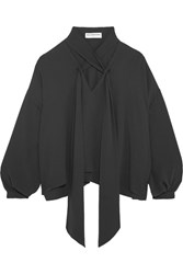 Balenciaga Silk Blouse Dark Gray