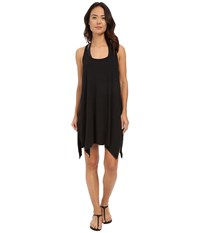Lucky Brand Arabian Night Dress Cover Up Black Women's Swimwear