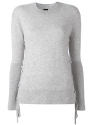 Rta Lace Up Jumper Grey