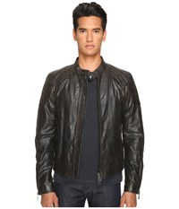 Belstaff Outlaw Lightweight Hand Waxed Leather Jacket Black