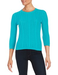 Lord And Taylor Cableknit Sweater Tropic Sea