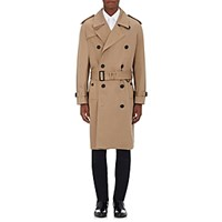 Burberry Xo Barneys New York Men's Cotton Double Breasted Trench Coat Tan