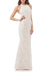 Js Collections Women's Halter Gown