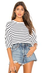Frank And Eileen Tee Lab Oversized Sweatshirt In White. White And British Royal Navy Stripe