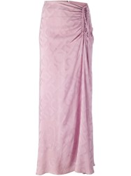 Jean Louis Scherrer Vintage Draped Drawstring Skirt Pink And Purple