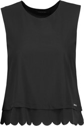 Koral Loop Cropped Stretch Jersey Tank Black